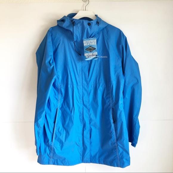 Columbia Jackets & Blazers - Columbia Women Weatherproof Trench Coat Blue XL